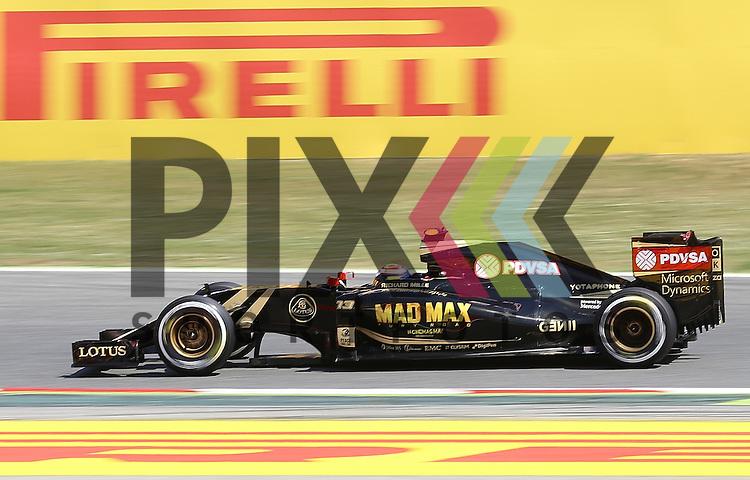 Barcelona, 10.05.15, Motorsport, Formel 1 GP Spanien 2015, Qualifying : Pastor Maldonado (Lotus E23 Hybrid, #13)<br /> <br /> Foto &copy; P-I-X.org *** Foto ist honorarpflichtig! *** Auf Anfrage in hoeherer Qualitaet/Aufloesung. Belegexemplar erbeten. Veroeffentlichung ausschliesslich fuer journalistisch-publizistische Zwecke. For editorial use only.