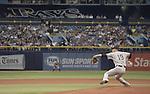 Masahiro Tanaka (Yankees),<br /> APRIL 18, 2015 - MLB :<br /> Masahiro Tanaka of the New York Yankees pitches during the Major League Baseball game against the Tampa Bay Rays at Tropicana Field in St. Petersburg, Florida, United States. (Photo by AFLO)