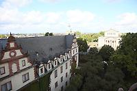 Blick über Darmstadt und das Residenzschloss