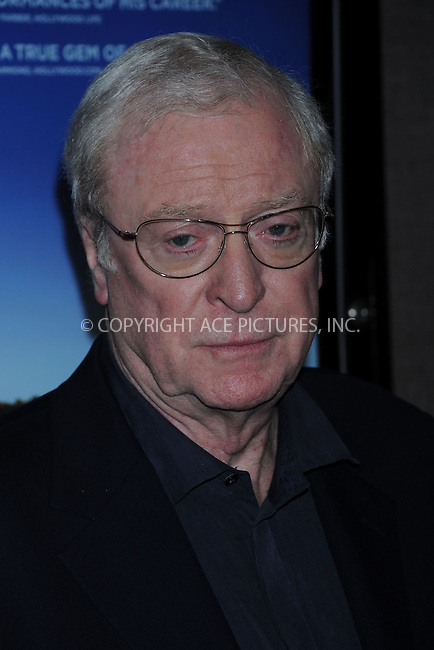 WWW.ACEPIXS.COM..April 06 2009, New York City..Actor Sir Michael Caine attends the premiere of 'Is Anybody There?' at Cinema 2 on April 6, 2009 in New York...Please byline: Kristin Callahan - ACEPIXS.COM...*** ***...Ace Pictures, Inc.tel: (212) 243 8787.e-mail: info@acepixs.com.web: http://www.acepixs.com..© 2009 Kristin Callahan/ACE Pictures.