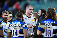 Matt Symons of Wasps leaves the field after the match. Aviva Premiership match, between Bath Rugby and Wasps on March 4, 2017 at the Recreation Ground in Bath, England. Photo by: Patrick Khachfe / Onside Images