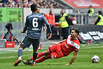 14.04.2019, Merkur Spiel-Arena, Duesseldorf, GER, DFL, 1. BL, Fortuna Duesseldorf vs FC Bayern Muenchen, DFL regulations prohibit any use of photographs as image sequences and/or quasi-video<br /> <br /> im Bild v. li. im Zweikampf Thiago (#6, FC Bayern Muenchen) Kevin St&ouml;ger / Stoeger (#24, Fortuna Duesseldorf) <br /> <br /> Foto &copy; nph/Mauelshagen