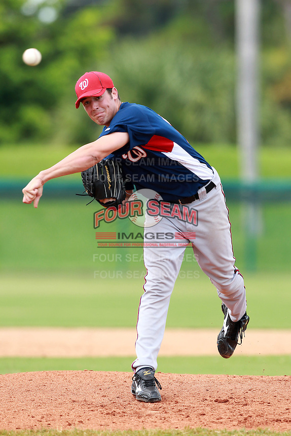 Washington Nationals minor league pitcher Robbie Ray during a game vs. the Chinese National Team in an Instructional League game at Holman Stadium in Vero Beach, Florida September 30, 2010.   Photo By Mike Janes/Four Seam Images