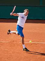08-07-13, Netherlands, Scheveningen,  Mets, Tennis, Sport1 Open, day one, Antal van der  Duim (NED)<br /> <br /> <br /> Photo: Henk Koster