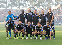 Earthquakes starting XI pose together for group photo before the game against Seattle at Buck Shaw Stadium in Santa Clara, California on August 11th, 2012.   Earthquakes defeated Sounders, 2-1.