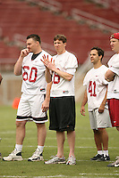 21 April 2007: Chad Hutchinson and the alumni during the Alumni's 38-33 victory over the coaching staff during a flag football exhibition at Stanford Stadium in Stanford, CA.