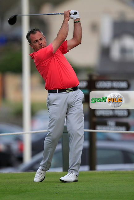 Pat Murray (Limerick) on the 19th tee during the South of Ireland Amateur Open Championship 4th Round at Lahinch Golf Club  29th July 2013 <br /> Picture:  Thos Caffrey / www.golffile.ie