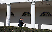United States President Donald Trump and Canadian Prime Minister Trudeau walk together as they make their way to lunch, at the White House in Washington, D.C. on February 13, 2017. <br /> Credit: Kevin Dietsch / Pool via CNP