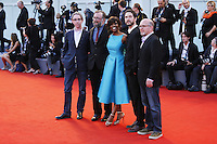 VENICE, ITALY - SEPTEMBER 12: Adam Hohenberg, Edwina Findley, Jake Mahaffy, Mike S. Ryan and Michael Bowes attends The Closing Ceremony Red Carpet during 72nd Venice Film Festival at Palazzo Del Cinema on September 12, 2015 in Venice, Italy. (Mark Cape/insidefoto)