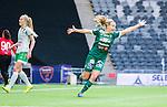 Stockholm 2015-04-11 Fotboll Damallsvenskan Hammarby IF DFF - Mallbackens IF Sunne  :  <br /> Mallbackens Elin Nyman firar sitt 1-1 m&aring;l under matchen mellan Hammarby IF DFF och Mallbackens IF Sunne  <br /> (Foto: Kenta J&ouml;nsson) Nyckelord:  Fotboll Damallsvenskan Dam Damer Tele2 Arena Hammarby HIF Bajen Mallbacken jubel gl&auml;dje lycka glad happy