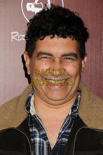 Pat Smear of Foo Fighters.Attending 'Sound City' Los Angeles Premiere held at the Cinerama Dome, Hollywood, California, USA, .31st January 2013..portrait headshot sheepskin collar smiling  .CAP/ADM/BP.©Byron Purvis/AdMedia/Capital Pictures.