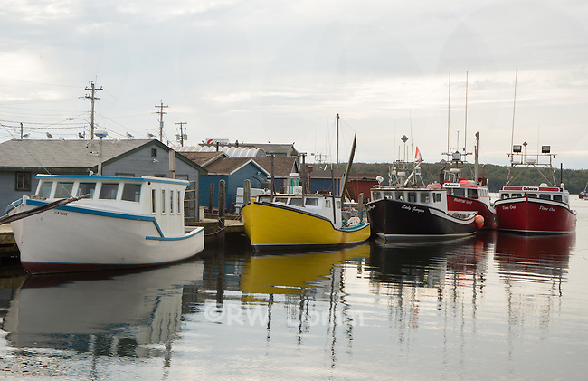 Lobstering Fishing boats Nova Scotia