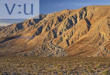 Alluvial fan, Anza-Borrego Desert State Park, California, USA.