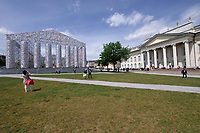 Kassel, Germany. Opening days of documenta14.<br /> Friedrichsplatz.<br /> Marta Minuj&iacute; (Argentina): Parthenon of Books.
