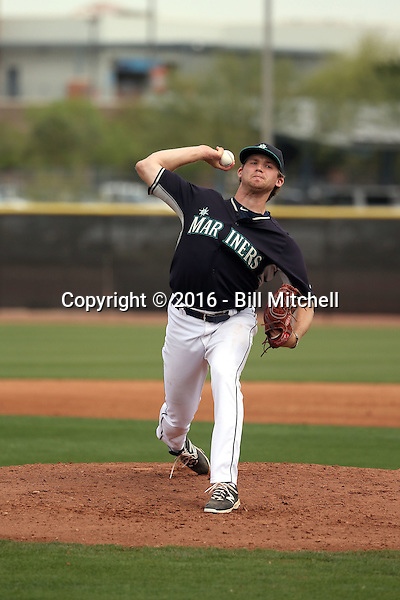 Kyle Wilcox - Seattle Mariners 2016 spring training (Bill Mitchell)
