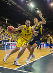 02.06.2019, EWE Arena, Oldenburg, GER, easy Credit-BBL, Playoffs, HF Spiel 1, EWE Baskets Oldenburg vs ALBA Berlin, im Bild<br /> Nathan BOOTHE (EWE Baskets Oldenburg #45 ) Tim SCHNEIDER (ALBA Berlin #10 )<br /> <br /> Foto © nordphoto / Rojahn