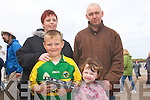 SUNDAY FUN: The May family from Dingle, Aoife, Darragh, Joanne and Paul having fun at the horse racing day at Beal Ban strand on Sunday.   Copyright Kerry's Eye 2008