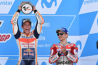 Aragon 24-09-2017 Moto Gp Spain photo Luca Gambuti/Image Sport/Insidefoto <br /> nella foto: Marc Marquez winner, Jorge Lorenzo third