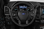 Car pictures of steering wheel view of a 2019 Ford Expedition XLT MAX 4x2 5 Door SUV