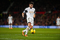 Saturday 11 January 2014 Pictured: Alejandro Pozuelo<br /> Re: Barclays Premier League Manchester Utd v Swansea City FC  at Old Trafford, Manchester