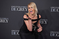 Adriana Abenia poses for the photographer during '50 Shades of Grey' film premiere in Madrid, Spain. February 12, 2015. (ALTERPHOTOS/Victor Blanco) /NORTEphoto.com