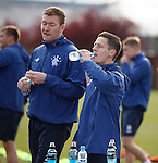 Ian Black and Kevin Kyle having a drink during training