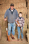 Families gather after Christmas at the Cuneo Ranch in California's Mother Lode. Jason and Tanner.
