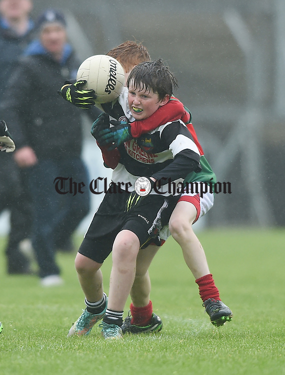 during the U-12 football finals in Cusack park. Photograph by John Kelly.