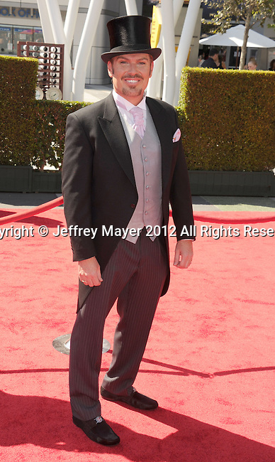 LOS ANGELES, CA - SEPTEMBER 15: Shawn Finch arrives at the 2012 Primetime Creative Arts Emmy Awards at Nokia Theatre L.A. Live on September 15, 2012 in Los Angeles, California.