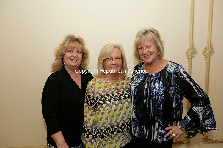 Wolcott, CT- 25 April 2015-042516CM13- SOCIAL MOMENTS--- From left to right, sisters Roselyn Goldman, Maureen Lagasse and Sharon Ritucci all of Wolcott are photographed during The Exchange Club of Wolcott's annual Public Service Awards Banquet at Mahan's Lakeview Fine Catering on in Wolcott on Monday, April 25.  Christopher Massa Republican-American