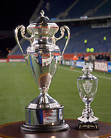 The Lamar Hunt Trophy and MLS Eastern Conference Trophy. The New England Revolution defeated the Chicago Fire 1-0 in the  MLS Eastern Conference Championship game at Gillette Stadium in Foxborough, MA on November 8, 2007.