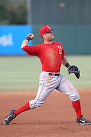 Nick Lynch (24) of the AZL Angels in the field during a game against the AZL Giants at Tempe Diablo Stadium on July 6, 2015 in Tempe, Arizona. Angels defeated the Giants, 3-1. (Larry Goren/Four Seam Images)
