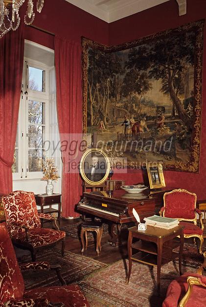 Europe/France/Auverne/63/Puy-de-Dôme/Env. de Courpière: Le château d'Aulteribe - Grand salon