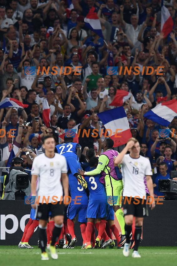 esultanza gol Antoine Griezmann goal celebration<br /> Marseilles 07-07-2016 Stade Velodrome Football Euro2016 Germany - France / Germania - Francia Semi-finals / Semifinali <br /> Foto Matteo Gribaudi/Image Sport/Insidefoto