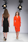 15 February 2014, London, England, UK. Models walk the runway at the Jasper Conran show during London Fashion Week AW14 at the Saatchi Gallery off King's Road, London.
