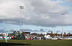 A view of the Ochils at Ochilview, have never been parked so close to a football pitch either!