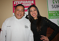 NWA Democrat-Gazette/CARIN SCHOPPMEYER Stephanie Martinez, Heart of a Rock Star Lip Sync Battle competitor, stands with her father Fernando Martinez at the Heart Ball Reveal Party.