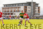 David Moran Kerry in action against Colm O Driscoll Cork in the National Football league in Austin Stack Park, Tralee on Sunday.