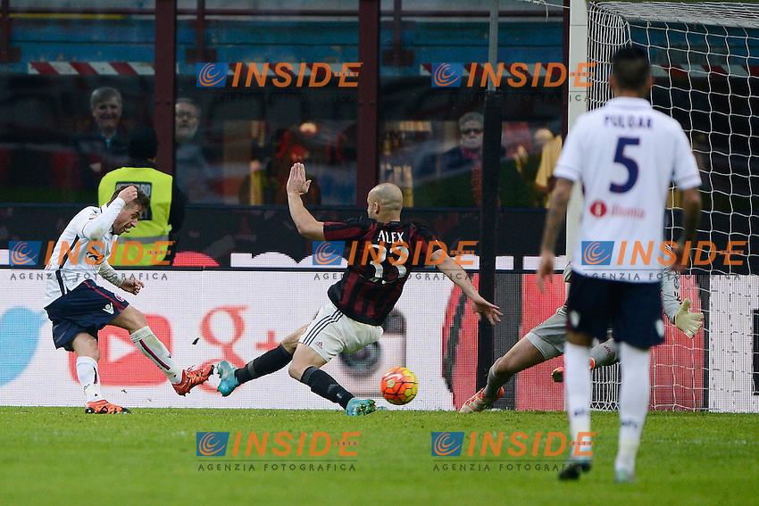 Gol di Emanuele Giaccherini Bologna 0-1. Celebration goal<br /> Milano 6-01-2016 Stadio Giuseppe Meazza - Football Calcio Serie A Milan - Bologna. Foto Giuseppe Celeste / Insidefoto