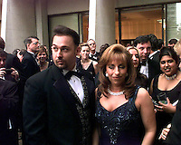 Steve and Paula Jones attend a party prior to the White House Correspondents Dinner at the Washington Hilton Hotel in Washington, DC on April 25, 1998.<br /> Credit: Ron Sachs / CNP /MediaPunch