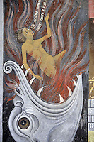 BG41216.JPG BULGARIA, RILA MONASTERY, CHURCH OF NATIVITY, frescoes