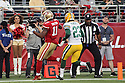 August 26 2016: Wide Receiver Quinton Patton Scoring a touchdown of the San Francisco 49ers before a 21-10 loss to the Green Bay Packers at Levi's Stadium in Santa Clara, Ca.