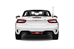 Straight rear view of 2017 Abarth 124 Spider Base 2 Door Convertible stock images