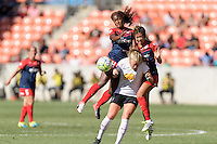 Houston, TX - Sunday Oct. 09, 2016: Francisca Ordega, Makenzy Doniak during the National Women's Soccer League (NWSL) Championship match between the Washington Spirit and the Western New York Flash at BBVA Compass Stadium. The Western New York Flash win 3-2 on penalty kicks after playing to a 2-2 tie.