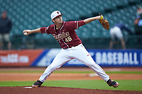 Florida State Seminoles relief pitcher Drew Carlton (46) in action against the Notre Dame Fighting Irish in Game Four of the 2017 ACC Baseball Championship at Louisville Slugger Field on May 24, 2017 in Louisville, Kentucky. The Seminoles walked-off the Fighting Irish 5-3 in 12 innings. (Brian Westerholt/Four Seam Images)