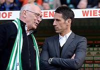 FUSSBALL   1. BUNDESLIGA   SAISON 2012/2013    30. SPIELTAG SV Werder Bremen - VfL Wolfsburg                          20.04.2013 Klaus-Dieter Fischer (li) und Thomas Eichin  (re, beide Werder Bremen)