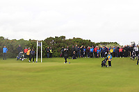 Emily Toy (ENG) on the 18th tee during the Matchplay Semi-Final of the Women's Amateur Championship at Royal County Down Golf Club in Newcastle Co. Down on Saturday 15th June 2019.<br /> Picture:  Thos Caffrey / www.golffile.ie