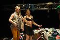 London, UK. 08.04.2014. les ballets C de la B, Alain Platel's tauberbach in its UK premiere at SAdler's Wells. The company is: Berengere Bodin, Elie Tass, Elsie de Brauw, Lisi Estaras, Romeu Runa, Ross McCormack. Photograph © Jane Hobson..