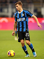 Calcio, Serie A: Inter Milano - Hellas Verona, Giuseppe Meazza stadium, November 9, 2019.<br /> Inter's Nicolò Barella in action during the Italian Serie A football match between Inter and Hellas Verona at Giuseppe Meazza (San Siro) stadium, on November 9, 2019.<br /> UPDATE IMAGES PRESS/Isabella Bonotto