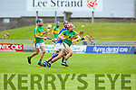Lixnaw's Jeremy McKenna in possession as he goes on a solo run against  St Brendans in the Qtr final of the Senior Hurling Championship in Austin Stack Park on Sunday.